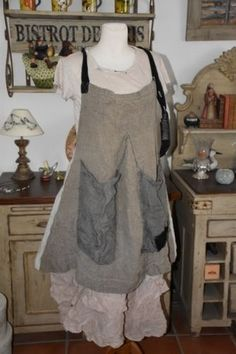 Magnolia Pearl, Linen Caia Apron Dress