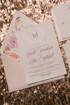 Wedding Invitations, Giselle Floral Rustic Package, Foil Stamping and Digital Printing, Foil + Digital, Foil Plus Digital, Foil Plus, Blush