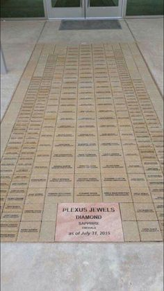 This is just too cool!!! Jewels' names leading up to the new Plexus office! #dplexuspower