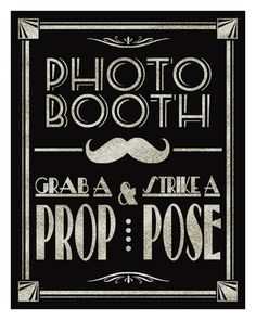 Printable Photo Booth Art Deco/Great Gatsby/1920's by PSPrintables