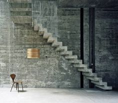 Floating concrete Stairs & wall texture