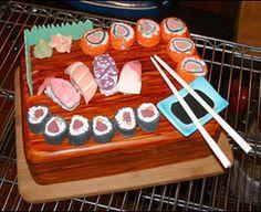 a sushi cake