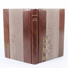 Master bookbinder exam book - half leather binding, hand gilt and painted - Kaija Rantakari / paperiaarre.com