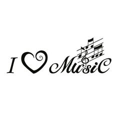 wall decal / tattoo / silhouette: i love music Wandtattoo / Tattoo / Silhouette: Ich liebe Musik This image has. I Love Music, Music Is Life, Good Music, Music Tattoo Designs, Music Tattoos, Music Pics, Music Images, Tattoo Silhouette, Music Silhouette