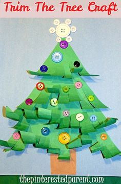 A great fine motor cutting activity & a cute Christmas tree craft to boot. The kids had fun trimming their trees