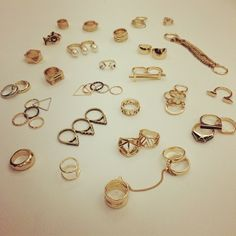Put a ring on it! #Accessories #Gold #Rings