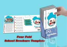 Free Four fold School Brochure PSD Template Psd Templates, Brochure Template, School Brochure, Design Desk, Promote Your Business, Cards, Free, Flyer Template, Booklet Template
