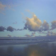 Malte von Schuckmann - Spiegelung, oil on canvas, 2009, 60 x 60 x 2 cm