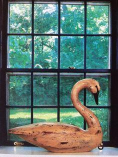 primitive swan decoy, Love it in the window