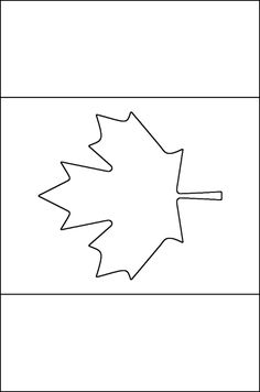 Canadian flag coloring page - Free Printable Coloring Pages