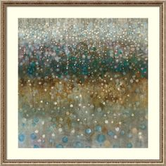 Shop for Framed Art Print 'Abstract Rain' by Danhui Nai 34 x 34-inch. Get free delivery at Overstock.com - Your Online Art Gallery Store! Get 5% in rewards with Club O!