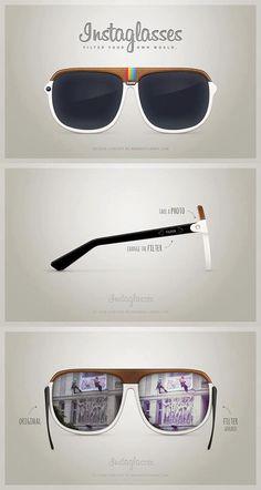 Instaglasses: Instagram incorporado en las gafas de sol.