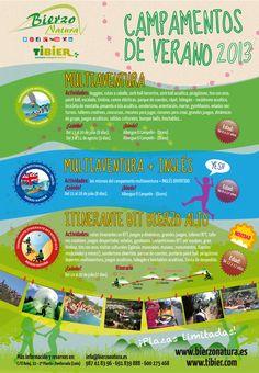 Campamentos de verano en El Bierzo 2.013. Toda la información en www.bierzonatura.es