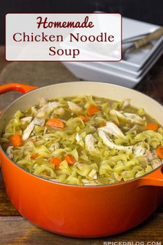 Homemade Chicken Noodle Soup | Spicedblog.com