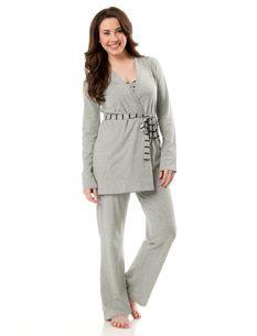 Bump In The Night™ 3-Piece Nursing Pajama Set - Maternity - Women ...