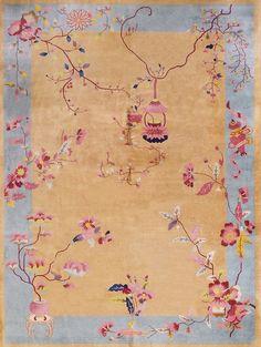 "#183 Chinese Art Deco carpet    9'10"" x 13'6""    circa 1940"