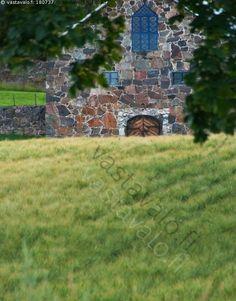 peltomaisema - pelto viljapelto ohrapelto kivirakennus ovi ikkuna pääty kesä ilta kesäilta peltomaisema maalaismaisema tammisaari