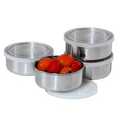 Oggi Prep Stainless Steel Prep Bowls with PP Lids 10Oz Set of 4 *** Learn more by visiting the affiliate link Amazon.com on image.