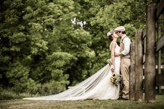 Bride and groom - rustic vintage inspired horse farm wedding