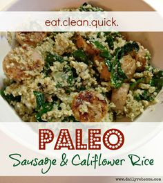 PALEO SAUSAGE & CALIFLOWER RICE
