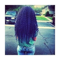 long curly kinky black hair Topsy.Curly ❤ liked on Polyvore