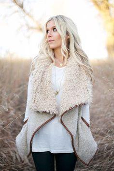 Vanilla Shearling Vest (Pre-Order) – Blue Layne Boutique