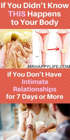 So many experts around the world say that not having intimate relationships for a week or more brings serious consequences for your health in general. Read carefully, this happens to your body if you don't have intimate relationship for 1 week (or more)