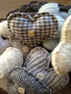Be my Valentine ~ Lisa Gabrielson Design...love the wool and sweater knits