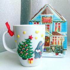Новогодняя чашка на заказ для @lmotilek     ________________________ Все ложечки…