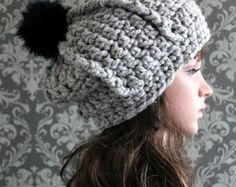 This easy crochet pattern makes a cozy and stylish crochet slouchy hat. This gorgeous hat is perfect for any age, and even for men and women too. Add the pom-pom and button embellishments for extra style.  Sizes included: Baby, Toddler, Child, Adult Regular, Adult Large.  This is a CROCHET PATTERN ONLY--NOT A FINISHED PRODUCT.  See my shop for many more modern and fun designs! https://www.etsy.com/shop/PoshPatterns  NOTE: This pattern is an INSTANT DOWNLOAD pattern. You will receive an email…
