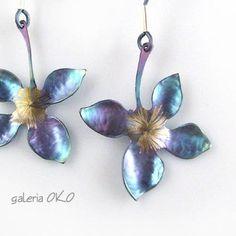 Flowers,-,titanium,earrings,Titanium Earrings, Handmade Jewellery, Titanium Jewellery,  Piotr Wajcht, GALERIA OKO