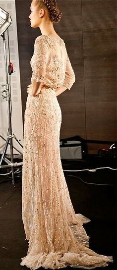 runway-cream-gown - Once Wed