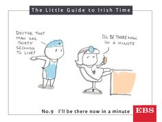 How long is an 'Irish minute'? Well, it varies depending on the county, though the average is 4 minutes and 59 seconds. That's one long minute! Irish Times, Big