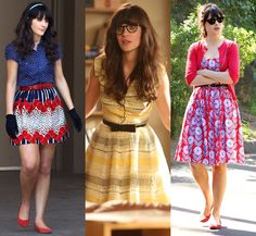 Vitrola na Vitrine - New Girl - Jessica Day - Zooey Deschanel - Fashion - Looks