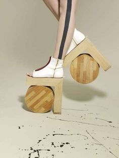 Imagine if platform shoes never went out of style.  We'd see this everywhere.