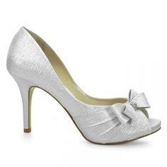 Sapato de noiva Peep Toe Laura Porto - Prata - MM732