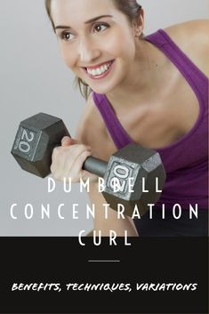 This exercise works for one arm at a time, this leverage can promote equal development of the muscles. When you perform an intense exercise using both your arms then your body shifts some tension off from the weaker to the stronger arm. But in dumbbell concentration curl only one arm is used at a time to lift the weight, this gives an equal amount of tension to both the arms. Like most of the bicep curl variations, the dumbbell concentration curl also target's the bicep and forearm muscles…