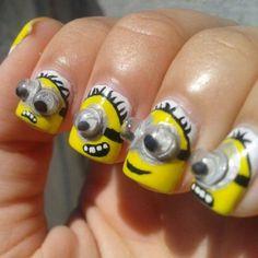 Despicable Me Minions nails.