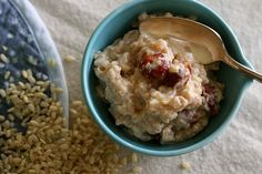 Healthy Toddler Food- Brown Rice Pudding.  This is delicious and nutritious!  We used almond milk instead of regular milk, and brown sugar instead of white sugar.  My 2 1/2 year old kept asking for more!