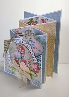 Cascade Cards with Stampin Up Designer Series Papers.