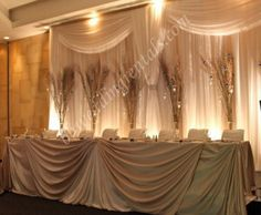 Nice up-lights - this type of lighting would be great for a wedding backdrop