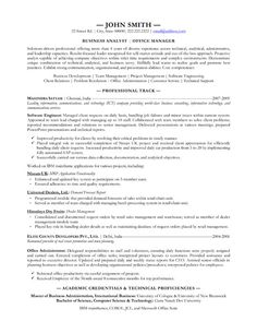 10 Best Best Business Analyst Resume Templates Samples Images