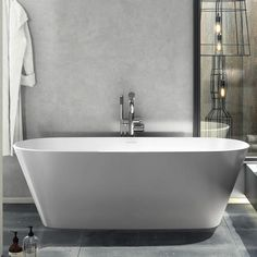 Vetralla Bath Free Standing – A modern bath for a modern bathroom. Vetralla 2 is deep and double-ended with generous volume. Also offered in a smaller format called Vetralla. By Victoria + Albert. Freestanding Taps, Victoria And Albert Baths, Bath Uk, Modern Bathtub, Victorian Bathroom, Bath Taps, Soaking Bathtubs, Wolverhampton, Clawfoot Bathtub