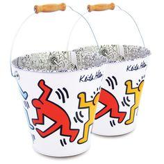 Keith Haring Tin Pail 2 Pack