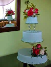 Cake 3 floor Vine Glasses flowers Australian paste Queques pasta