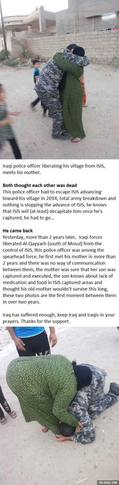 This soldier lived two years with the idea that his mother was dead.