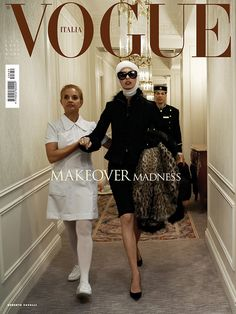 'Makeover Madness' Linda Evangelista photographed by Steven Meisel for Vogue Italia July 2005
