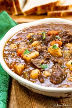 ThisInstant Pot Beef Stew (With A Secret Ingredient) is the BEST beef stew with fork-tender beef, potatoes, and vegetables in a rich, savory gravy that is ready in an hour. #BeefStew #InstantPotBeefStew #BestBeefStew Instant Pot Beef Stew Recipe, Instant Pot Dinner Recipes, Beef Stew Gravy Recipe, Instant Pot Pressure Cooker, Pressure Cooker Recipes, Pressure Cooking, All You Need Is, Beef Recipes, Cooking Recipes
