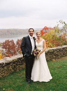 Outdoor Wedding Portrait With Fall Color | photography by http://www.charlottejenkslewis.com