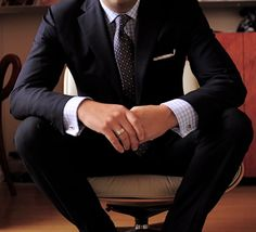 Style tip #1..French cuffs with cuff links are always recommended. Takes the suit up a few notches...